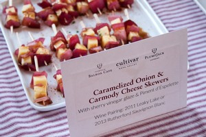 Caramelized Onion and Carmody Cheese Skewers