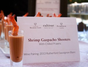 Shrimp Gazpacho Shooters with Chilled Prawns